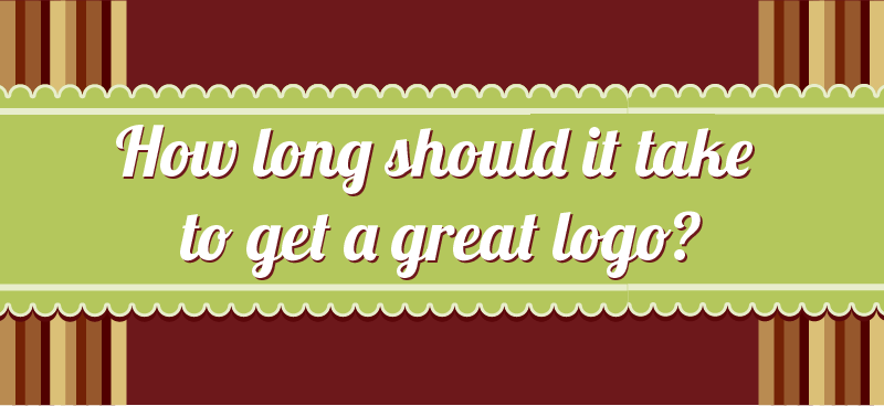 How long should it take to get a great logo?